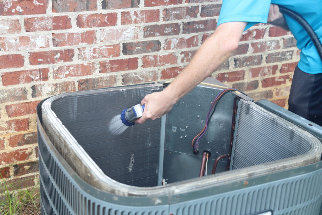 AC Coil Cleaning Inside